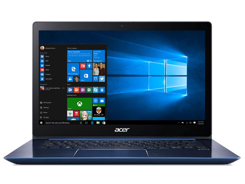 "Acer Swift 3 (SF314-52-363M) Core i3-7130U/4GB/256GB SSD +N/14""FHD IPS LCD/HD Graphics/W10 Home/Blue"