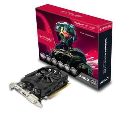 Sapphire Radeon R7 250, 2GB DDR3 (128-Bit), HDMI, DVI, VGA, w/ BOOST