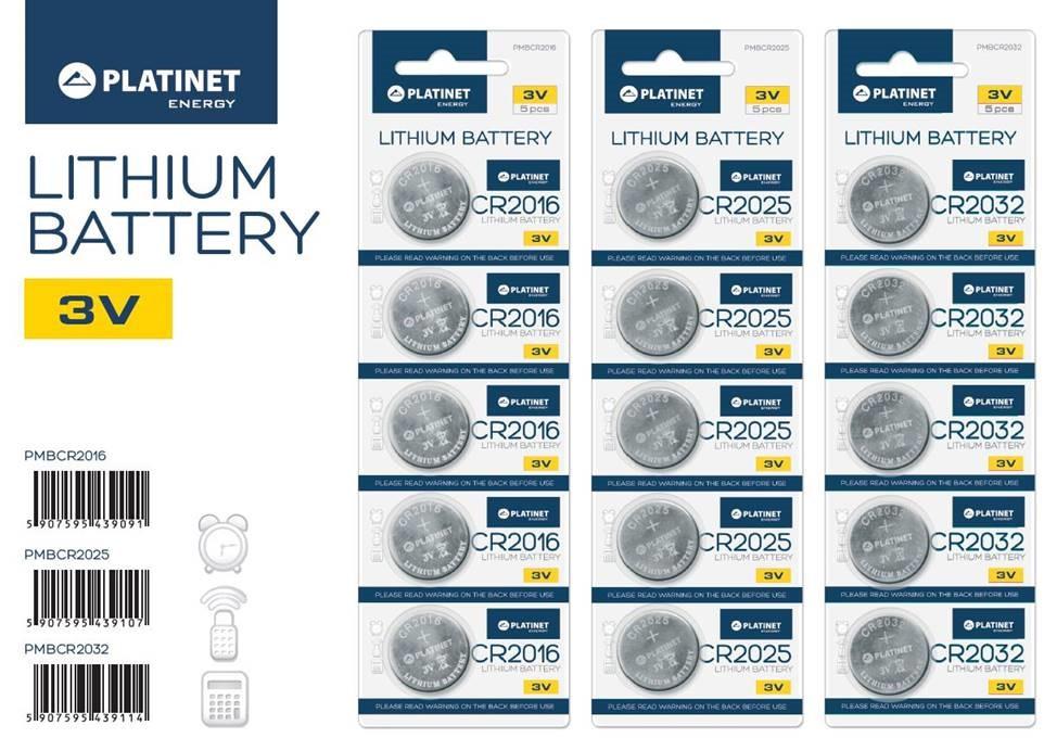 Platinet baterie CR2025 BLISTER*5ks