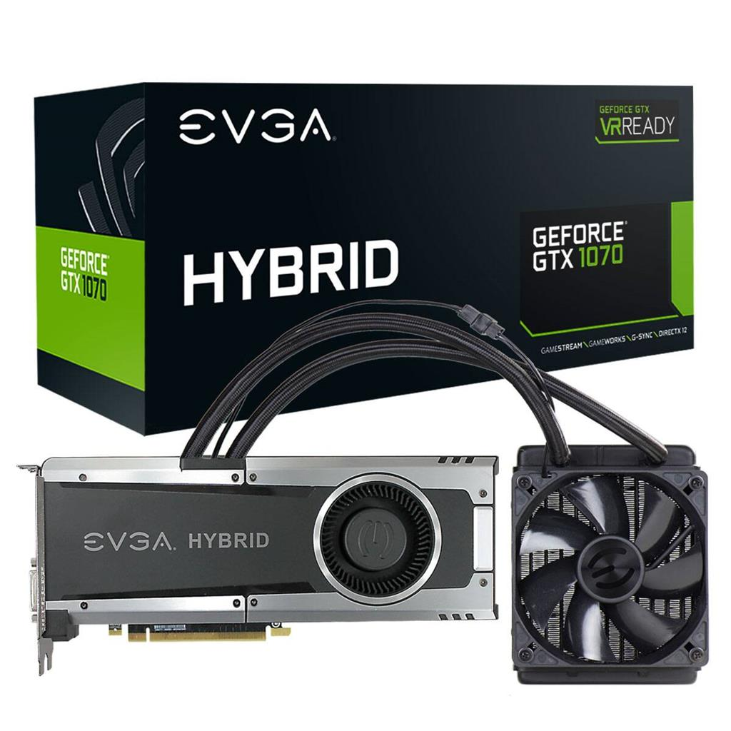 EVGA GeForce GTX 1070 GAMING, 8GB GDDR5, HYBRID & LED
