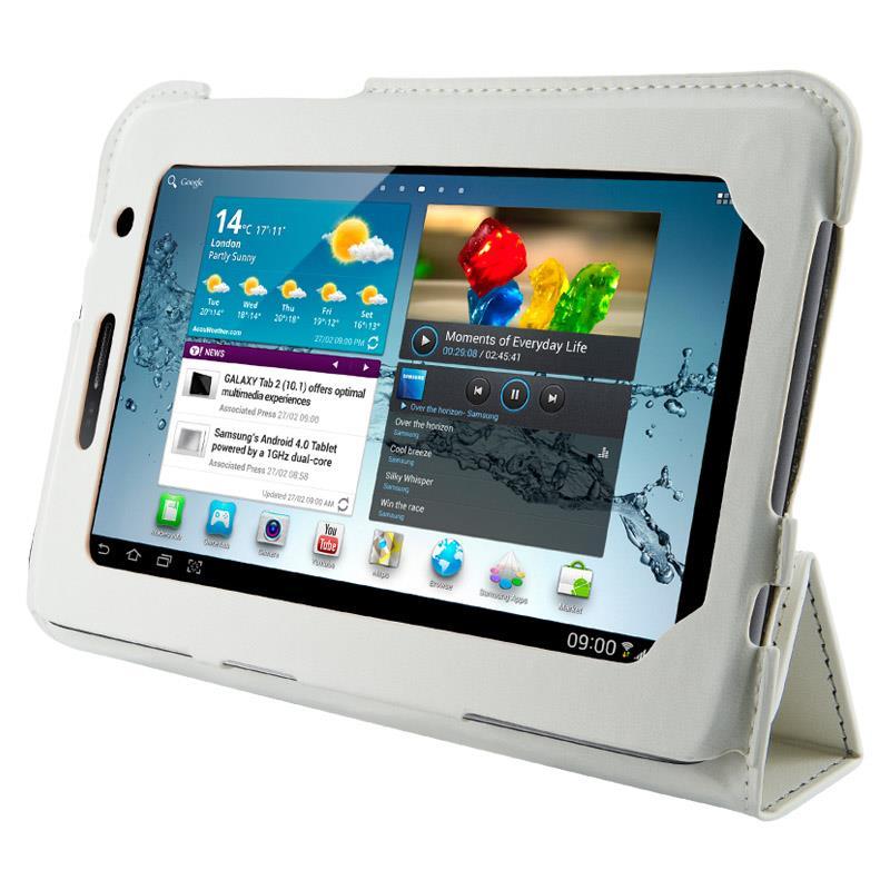 4World Pouzdro - stojan pro Galaxy Tab 2, 4-Fold Slim, 7'', bílý
