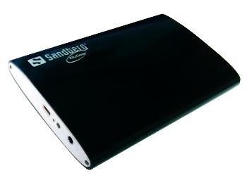 Sandberg externí HDD box 2.5'', USB 3.0, SATA, hliníkový, černo-bílý