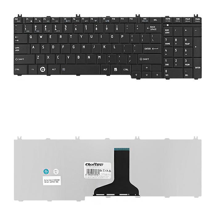 Qoltec Klávesnice pro notebook Toshiba Satelite C650B