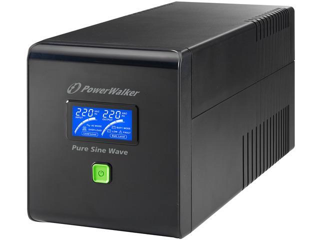 Power Walker UPS Line-Interactive 1000VA 4x 230V EU, PURE SINE,RJ11/RJ45,USB,LCD