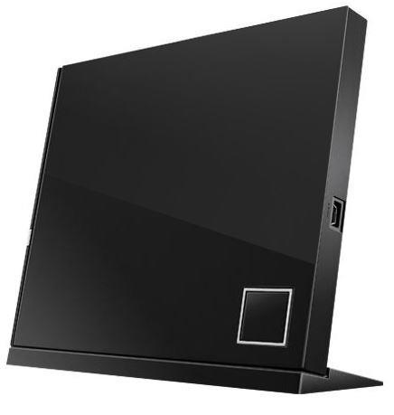 ASUS External Slim Blu-ray Writer, Black, SBW-06D2X-U/BLK/G/AS