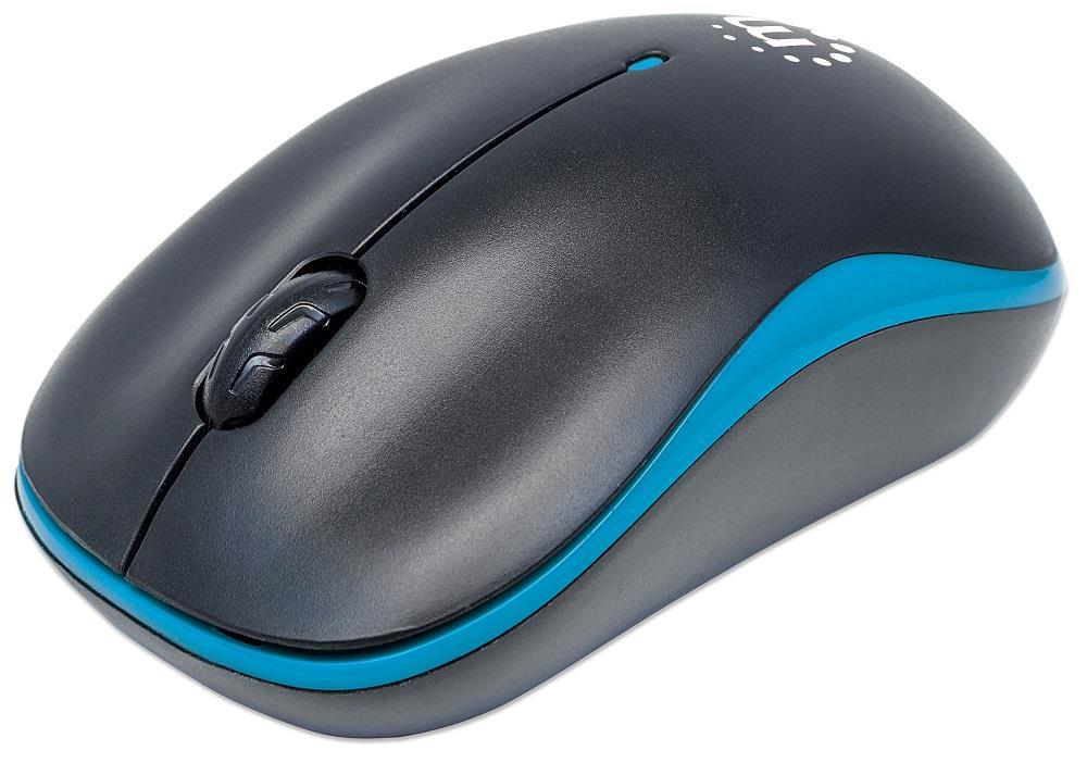 MANHATTAN Myš Success, USB optická, 1000 dpi, černo-modrá