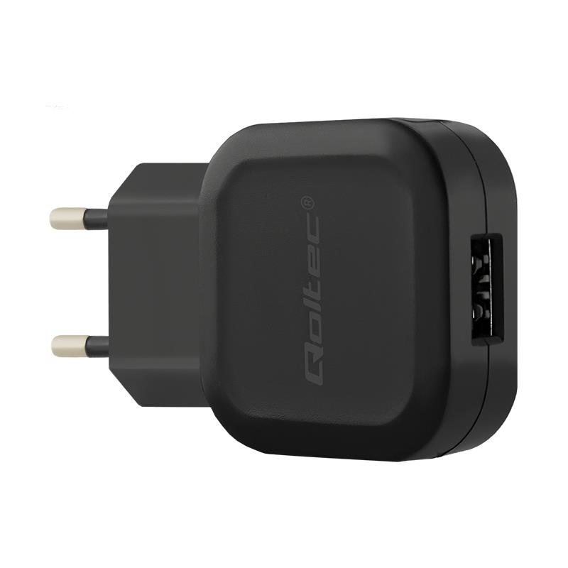 Qoltec AC adapter for Smartphone / Tablet | 12W | 5V | 2.4A | USB + cable Micro