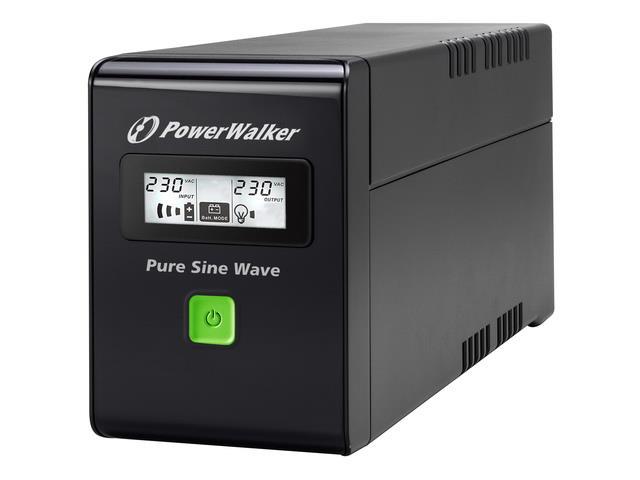 Power Walker UPS Line-Interactive 600VA 2x PL 230V, PURE SINE, RJ11/RJ45,USB,LCD