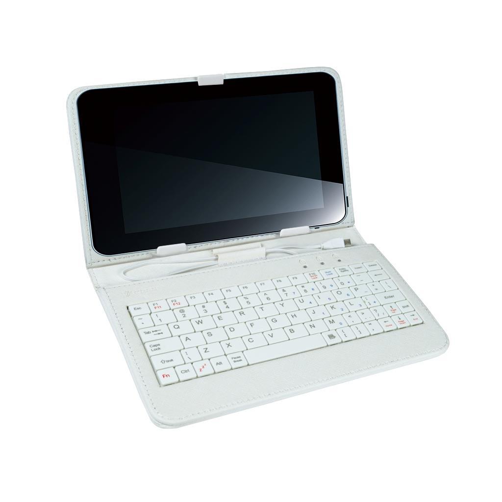 VAKOSS Pouzdro s klávesnicí 7'', bílé, plochý design