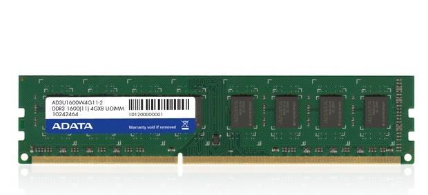 ADATA 4GB DDR3 1600MHz CL11, 512x8, bulk
