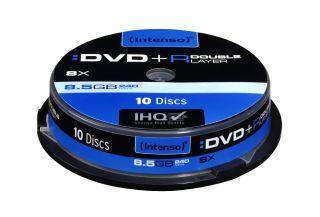 DVD+R DL DoubleLayer Intenso [ cakebox 10 | 8,5GB | 8x ]