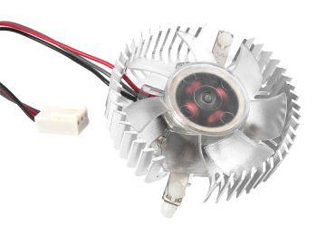 Gembird ventilátor pro grafiku VGA hliník, svítíci na žluto