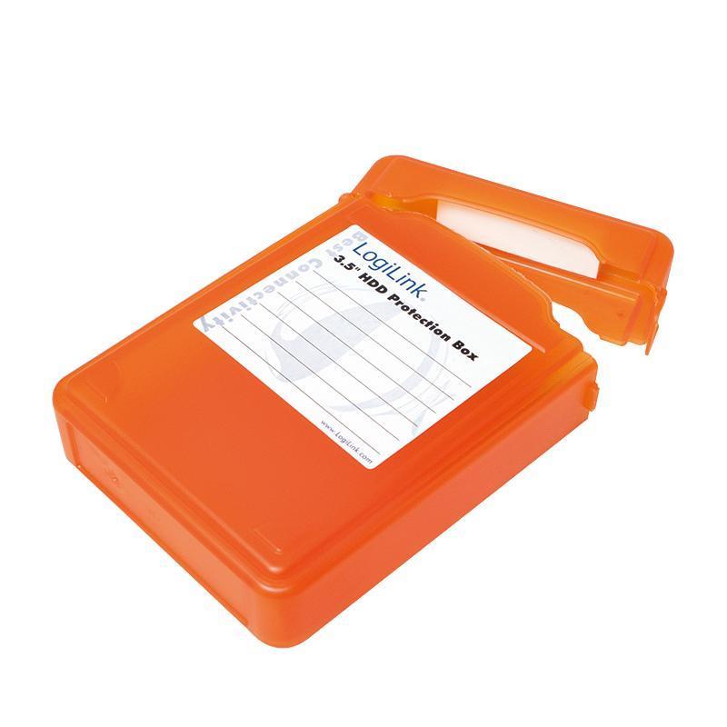 LOGILINK - Ochranný box pro 3.5'' HDD oranžový