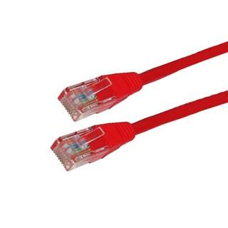 4World Síťový kabel RJ45 s krytkou, Cat. 5e UTP, 15m, Červený