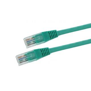 4World Síťový kabel RJ45 s krytkou, Cat. 5e UTP, 15m, Zelený