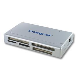 INTEGRAL čtečka paměťových karet USB 2.0 SDHC/SDXC, stříbrná