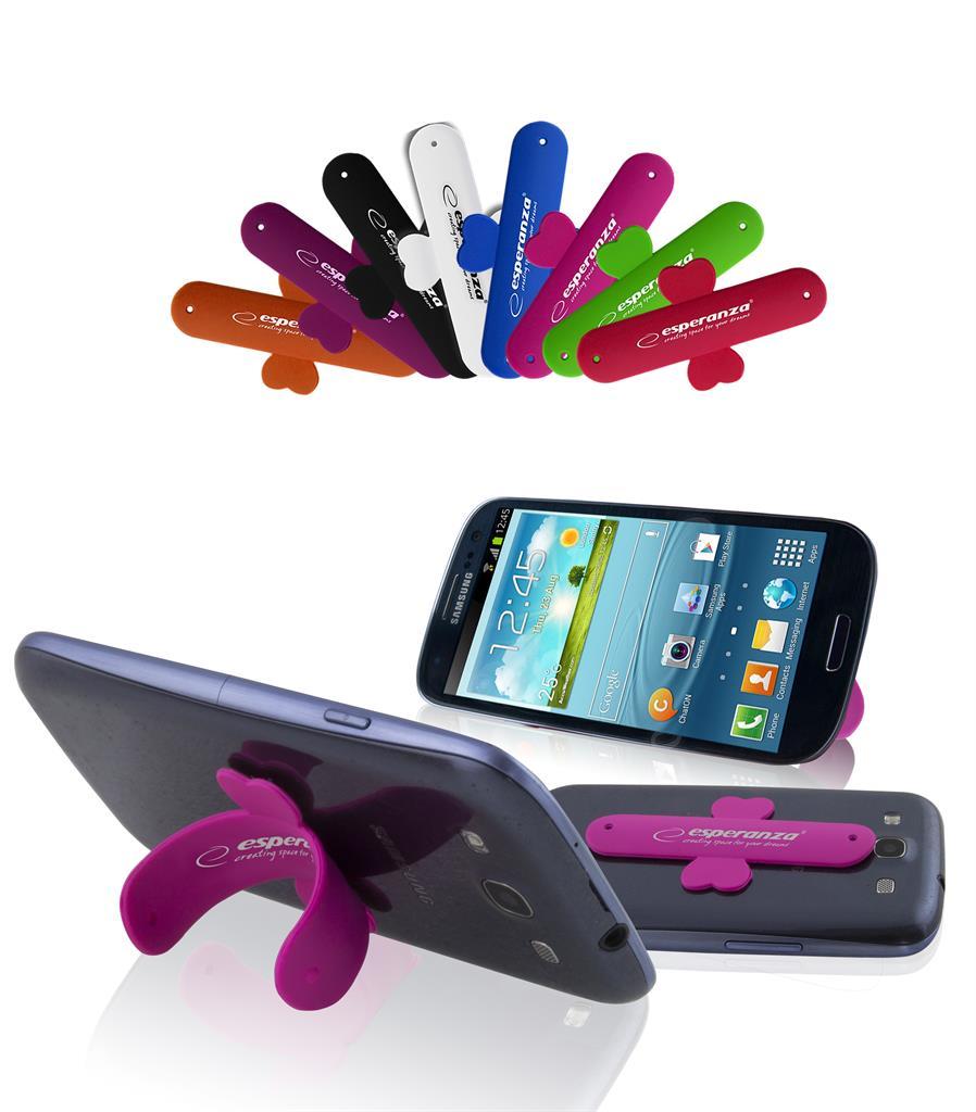 Esperanza EMS110 STRAP silikonový stojánek pro mobilení telefon/notebook