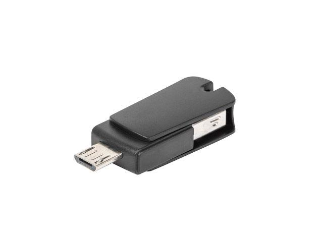 Natec OTG Card Reader WASP 2in1 Micro SD USB 2.0 Black