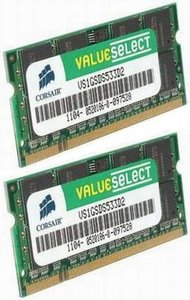Corsair 4GB (Kit 2x2GB) 800MHz DDR2 CL5 (5-5-5-18) SODIMMs (pro NTB)