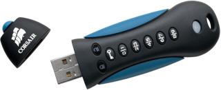 Corsair Flash Padlock 2 16GB; 256-bit HW šifrování, ochrana PINem, gumový