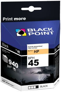 Ink Black Point BPH45 | Black | 42 ml | 940 p. | HP 51645
