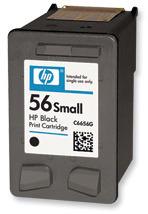 HP 56 Black Ink Cart, 4,5 ml, C6656GE