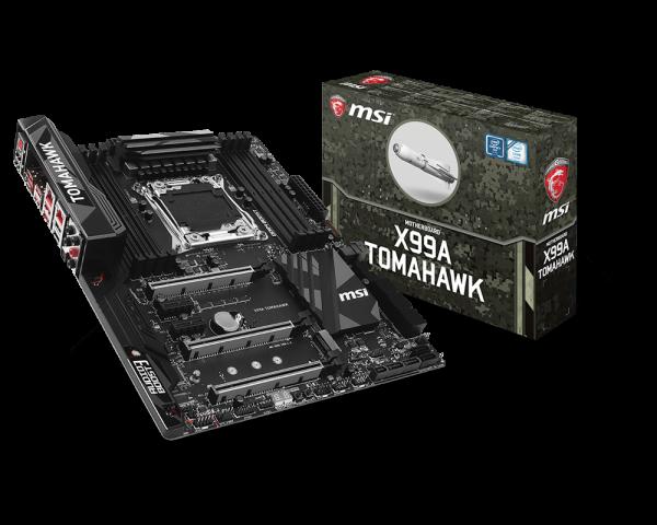 MSI MB Sc LGA2011-3, X99A TOMAHAWK, Intel X99, 8xDDR4, SATA3, USB3.1c, 2xGbLAN, ATX