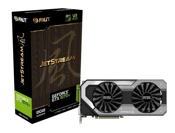 PALIT GTX1070Ti Jetstream 8GB GDDR5 256bit DVI 3-DP HDMI
