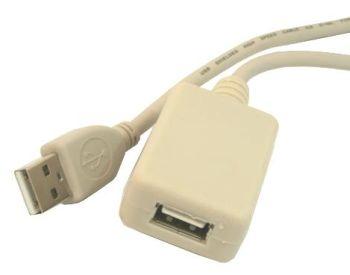 Gembird USB 2.0 kabel A-A prodlužovací 5m (aktivní)