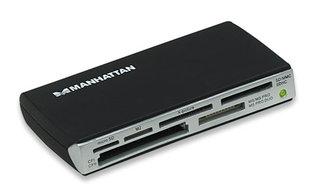 Manhattan externí USB čtečka karet 60v1, černá