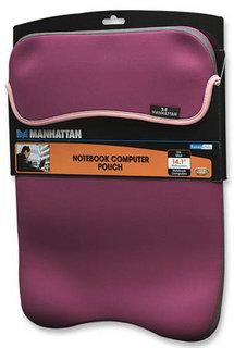Manhattan Pouzdro na notebook 14,1'' oboustranné fialová/béžová