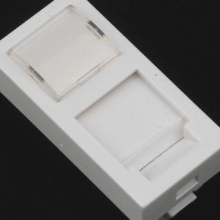 Netrack NBOX modul datové zásuvky úhlový 1M 1xkeys. s popis. rámečkem a krytkou