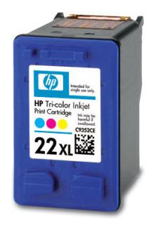 HP 22XL Tri-color Ink Cart, 11 ml, C9352CE