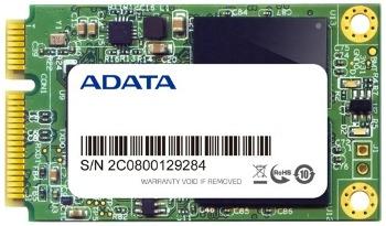 ADATA SSD XPG SX300 256GB mSATA SATA3 MLC (čtení: 550MB/s; zápis: 505MB/s)