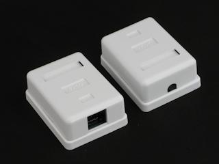 Netrack zásuvka kompletní na omítku 1xRJ45 8p8c UTP Cat5e LSA