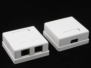 Netrack zásuvka kompletní na omítku 2xRJ45 8p8c FTP kat5e LSA
