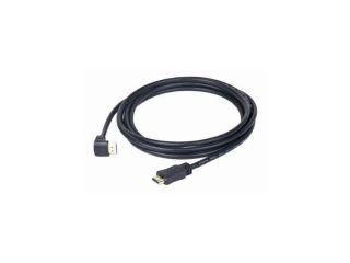 GEMBIRD Kabel HDMI-HDMI M/M 3m, 1.4, M/M stíněný, zlacené kontakty, 90° lomený, černý