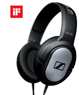 SENNHEISER HD 201 sluchátka tip mušle, černá