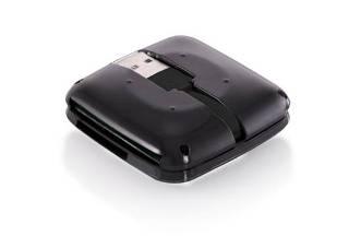 Modecom CR-202 externí čtečka SIM karty, USB 2.0, Mini SD, Micro SD, SDHC, CF, MMC, M2, černá