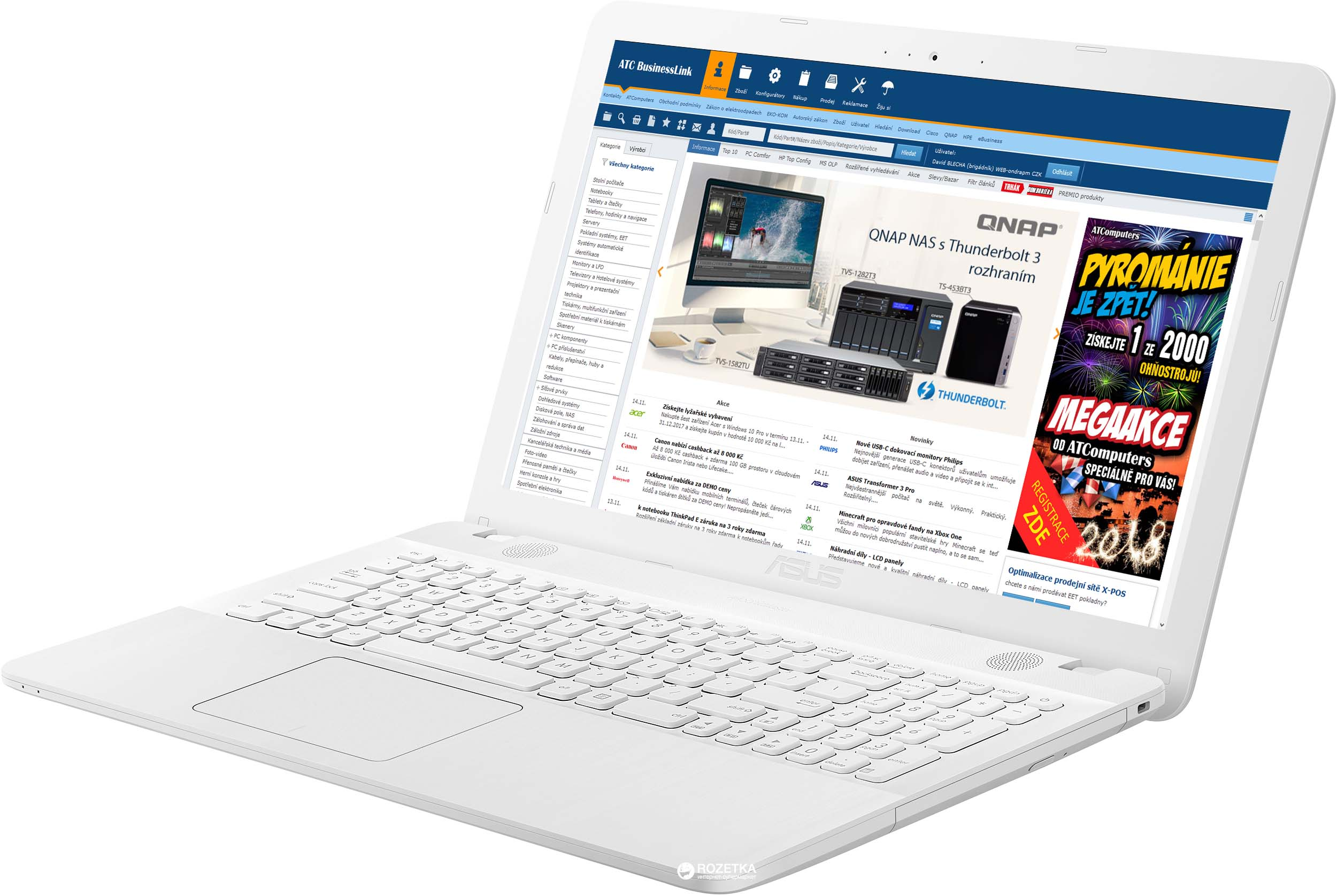 "ASUS X541NA-GO129T Celeron N3350/4GB/500GB/Graphics Share/15,6"" HD lesklý/BT/W10 Home/White"