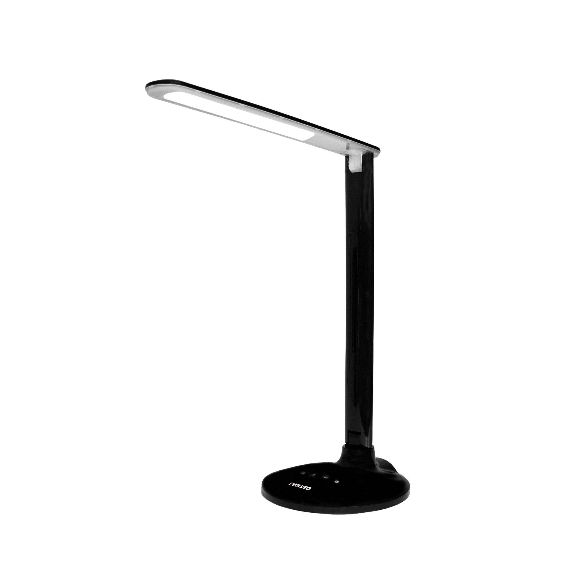EVOLVEO Lumos LX10, LED stolní lampa, dotykové ovl. , USB nabíjení, regulace světla s pamětí, bílá