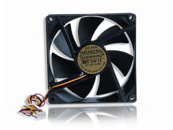 Gembird ventilátor pro PC case, 90x90mm, 3-pin, kuličkové ložisko