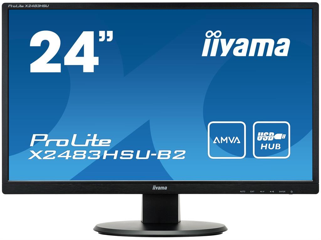 Iiyama LCD X2483HSU-B2 23,8'' LED,AMVA, 4ms, VGA/DVI/HDMI,USB, repro,1920x1080,č
