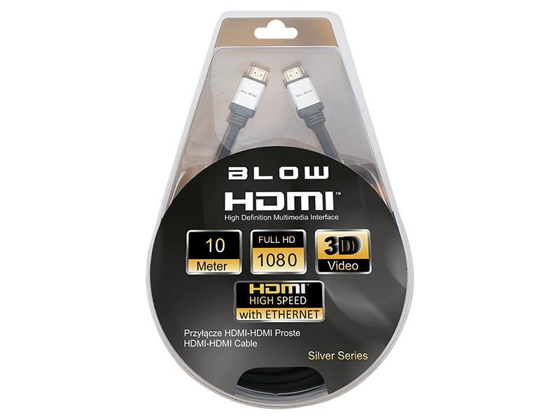 BLOW SILVER kabel HDMI-HDMI 10m + filtry