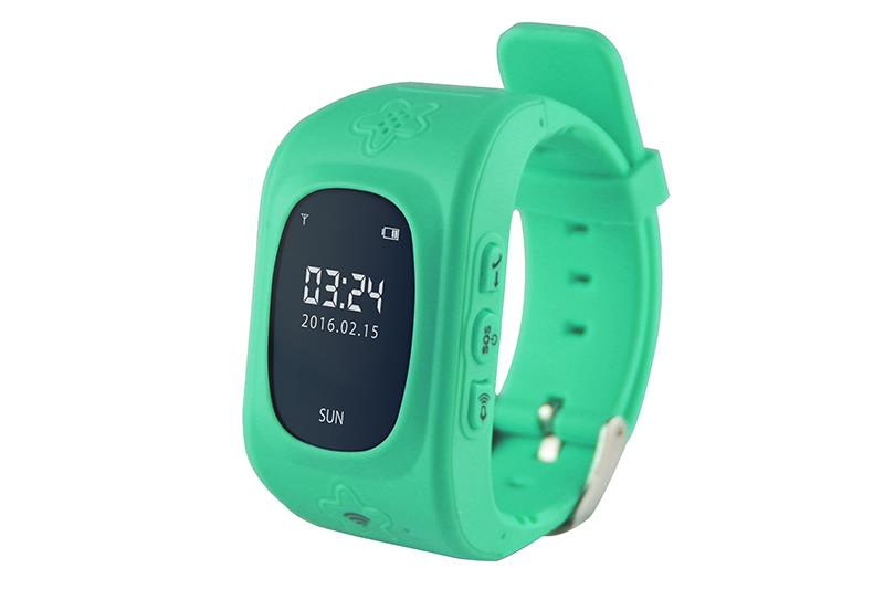 KIDS LOCATOR GPS -Tracking smartwatch, with alarm phone for safety of kids,green