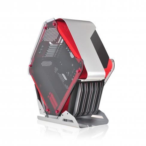 SPIRE skříň SIRYUS X2-C6025R, USB 3.0, gaming, bez zdroje, Black/Red