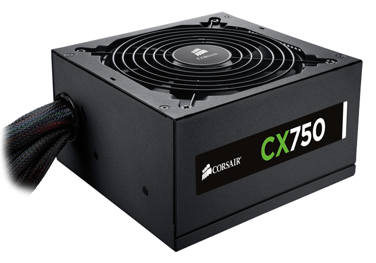 Corsair zdroj 750W CX Series CX750, 80 PLUS Bronze, modulární, 135mm ventilátor