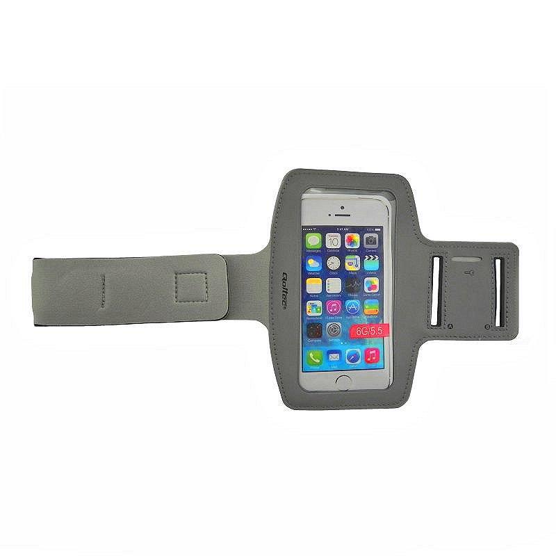 Qoltec Sportovní Armband smartphone max.5.5'' šedá