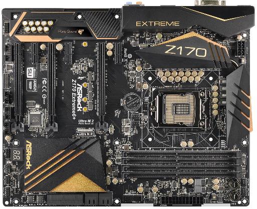 ASRock Z170 EXTREME6+, Z170, DualDDR4-2133, SATA3, Ultra M.2, HDMI, DVI, DP, ATX
