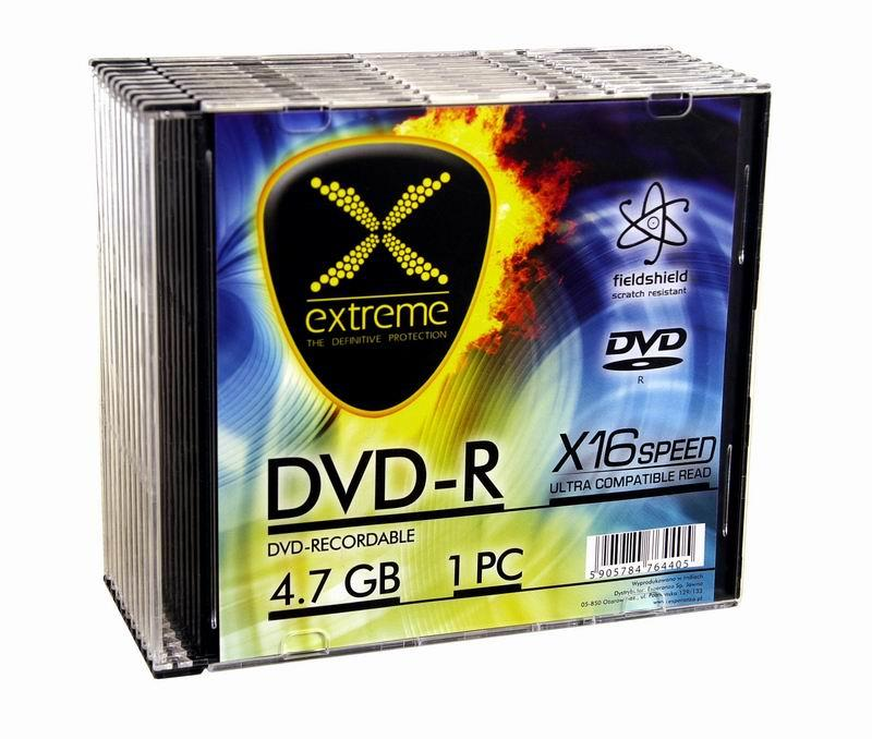 Extreme DVD-R [ slim jewel case 10 | 4.7GB | 16x ]